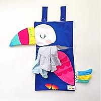 TUCÁN bolsa para ropa sucia/bolsa para juguetes (40x70 cm área bolsa) cesto para ropa, canasto para ropa, bolsa ropa sucia