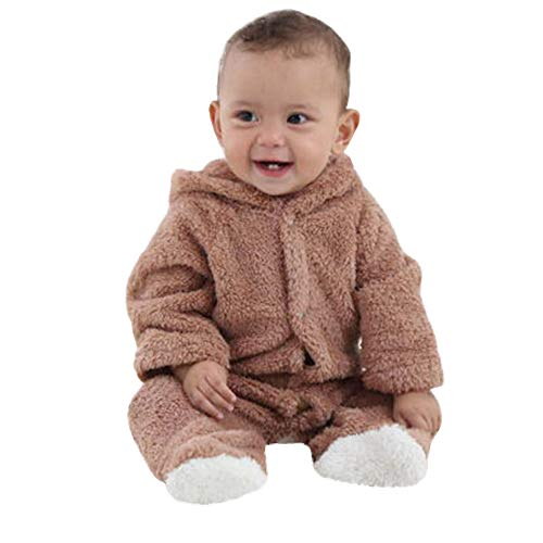 VEKDONE Fleece Baby Bunting Onesie Jacket – Infant Pajamas Winter Outerwear Coat Costume