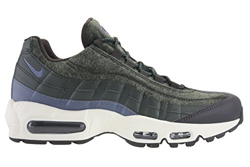Nike Mens Air Max 95 Premium Wool Pack Shoes SequoiaLight Carbon BlueBrown Velvet 538416 300 Size 8