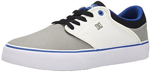 DC Mens Mikey Taylor Vulc SE Skate Shoe, Grey/White/Blue, 38 D(M) EU/5 D(M) UK