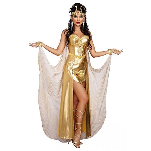 Egyptian Goddess Cleopatra Women's Metallic Gold Costume