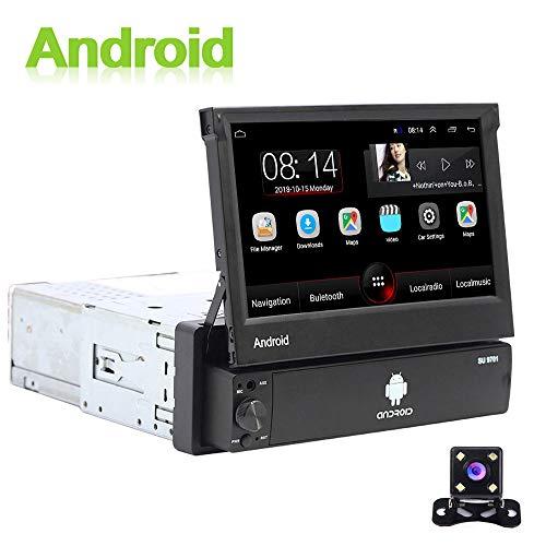 Android 1 DIN Radio de Coche GPS CAMECHO 7 Pulgadas hacia afuera Pantalla tactil capacitiva Bluetooth FM Radio WiFi…