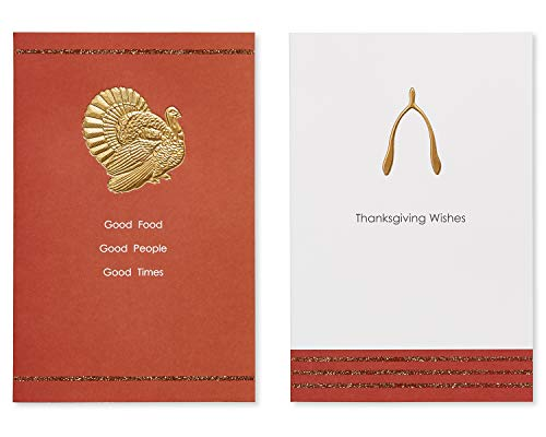 American Greetings Turkey and Wishbone Thanksgiving Greeting