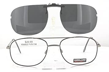 8f15c0b57245 KIRKLAND-SIGNATURE ARTURO-656822-58X19 POLARIZED CLIP-ON SUNGLASSES (Frame  NOT