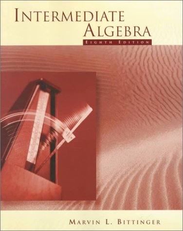 Intermediate Algebra (8th Edition)