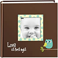 Pioneer Photo Albums EV-246FB/O 200-Pocket Baby Owl Printed Designer Frame Cover Photo Album, Blue
