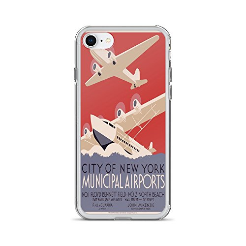 Vintage poster - New York Municipal Airports 0103 - iPhone 7 Phone - Images Airport Laguardia