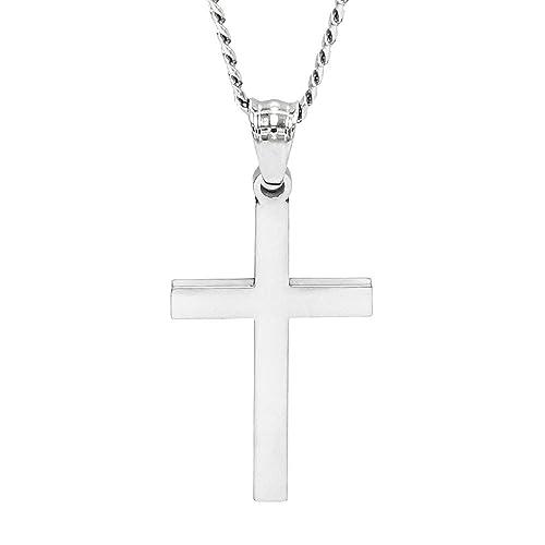 Amazon.com: LAX joyería para mujer para hombre cruz colgante ...