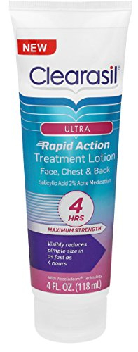 Action Lotion (Clearasil Ultra Rapid Action Treatment Lotion, 4 fl. Oz., for face, chest & back)