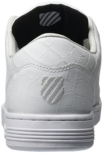 K-Swiss Herren Lozan III TT Croco Low-Top Weiß (White/Black 102)