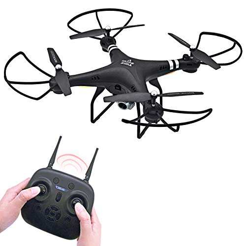Keliwow RC Drone with Camera 2MP WiFi HD 1080P Hobby RC Quadcopter Drone FPV for Adults Beginners Kids Remote Control UAV RTF (Black)