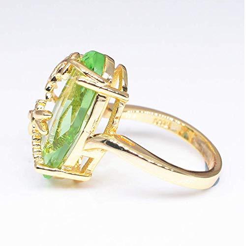 Goddesslili Gemstone Rings for Women,Dragonfly Ring Natural Transparent Peridot Gemstone Rings Luxury Wedding Ring