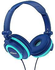 PUERSIT Headphones for Kids, Stereo Bass Earphones Foldable Over Ear Headsets 3.5mm Jack for Children