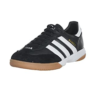 adidas Men's Samba Millenium Soccer Shoe,Black/Running White/Gold,8 M US