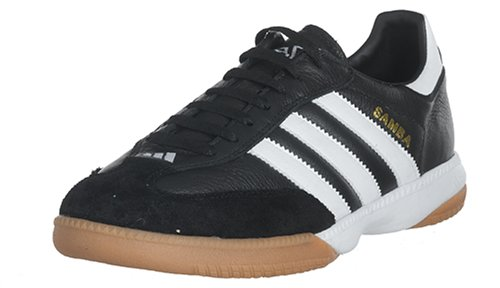 (adidas Men's Samba Millenium Soccer Shoe,Black/Running White/Gold,8 M US)