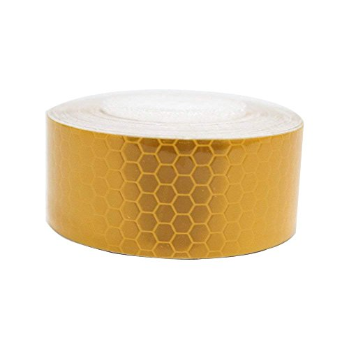 Maite Reflective Tape Self-Adhesive Tape for Wheelchair Walking Stick Footwear High Visibilty Reflective Safety Tape 3M×2.5CM Yellow 1pcs
