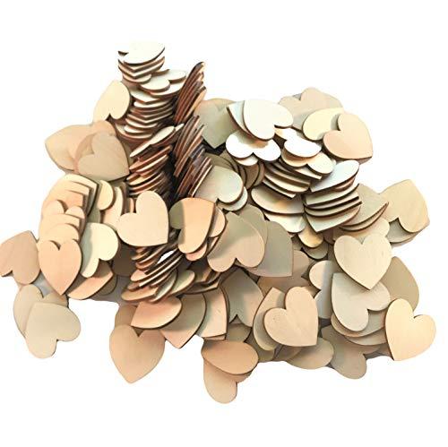 - Wooden Hearts Slices, Discs, Cutouts, 200 pcs, Crafting, DIY Wedding, Valentine,