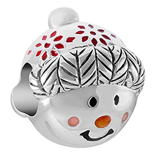 Chamilia Cuddly Snowman Bead - Enamel Charm, Multi, One Size ()
