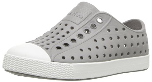 native Kids Jefferson Child Water Proof Shoes, Pigeon Grey/Shell White, 12 Medium US Little Kid