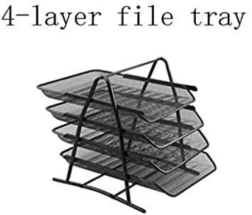 AGWa Metal Mesh Magazine Rack, Aktenregal, Desktop Letter Tray File Organizer Sortierer Schreibtisch Document Organizer Regalfach Papierdatei Newspaper Organizer Tray, 3-lagiges File Tray,3-Layer-Dat