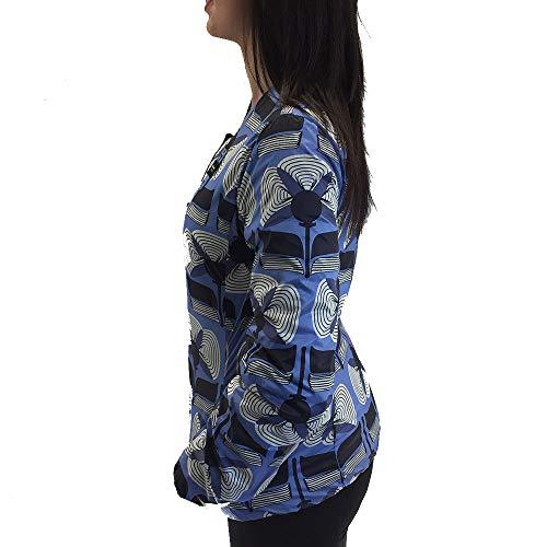Donna Scuro Woman Giubbotto Jacket Piumino Blu Dark 7434v Face Double Blauer Z6vqwp