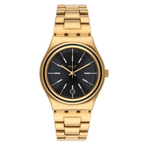 Swatch ironía de la mujer ylg405g oro acero inoxidable reloj de cuarzo: Swatch: Amazon.es: Relojes
