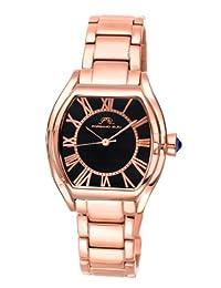 Porsamo Bleu Isabel Stainless Steel Rose Tone & Black Women's Watch 181CISS