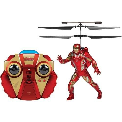 World Tech Toys 2-channel Marvel Ir Helicopter With Action Phrases & Led Lights (iron Man) (pack of 1 Ea) ()
