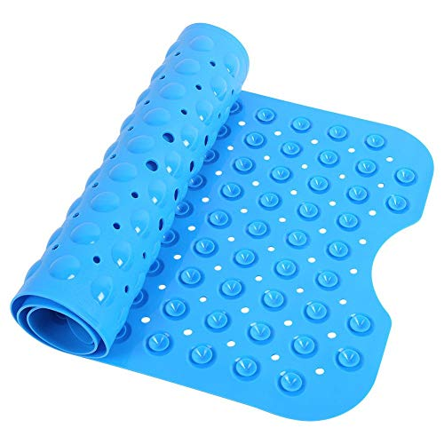 Blue Bath Mat Non Slip Anti Skid Rubber Shower Tub Safe Protection Bathtub Safety Mat by Unknown