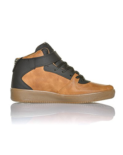 Cash Money-zapatilla ascendente para hombre, diseño de rayas, color marrón y negro Marrón - marrón