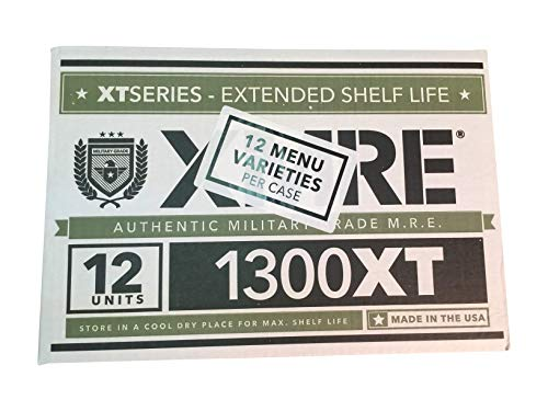 Ozark Outdoorz, LLC 2019 Pack Date/2024 Best by Date XMRE 1300XT (Meals Ready to Eat) - Case of 12 (Best Of The Ozarks 2019)