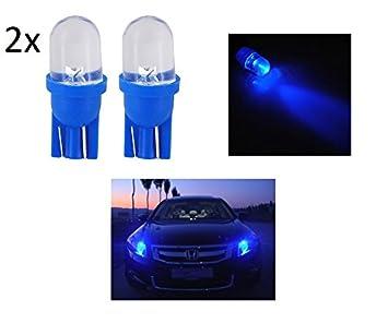 Luces de posición LED azul T10, 2 unidades, bombilla para coche 6000 K, 12 V, W5W: Amazon.es: Coche y moto