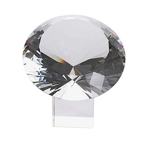 - LONGWIN 200mm(8 inch) Big Crystal Diamond Paperweight Wedding Centerpiece