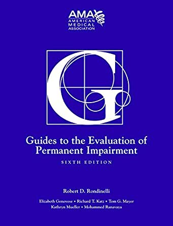 guides to the evaluation of permanent impairment sixth edition rh amazon com ama guides to permanent impairment 6th edition ama disability guidelines 6th edition