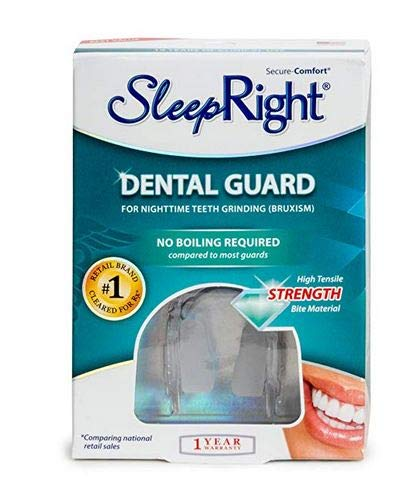 - SleepRight Secure-Comfort Dental Guard Mouth Guard To Prevent Teeth Grinding SleepRight No Boil Dental Guard