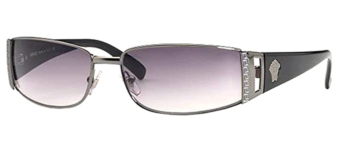 dfbb9ef1b100 Versace VE 2021 1001 11 Pewter VE2021 Unisex Sunglasses
