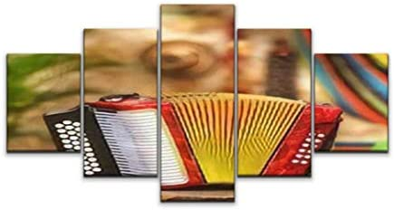 Skipvelo Button Accordion Vallenato Wall Art Canvas Prints Pictures Paintings Artwork Home Decor Stretched and Framed
