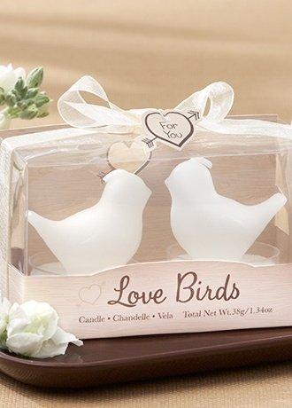Amazon.com: Love Birds White Bird Tea Candle Favor: Health ...