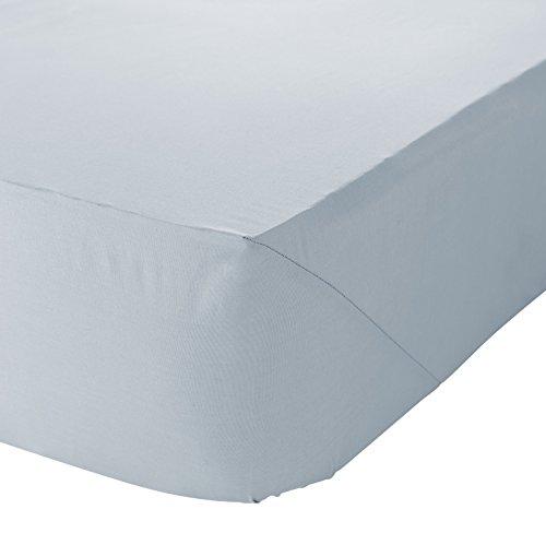 Linens Limited Spannbettlaken - Baumwoll-Polyester-Perkal, FZ 180 - Zartgrün - für 90 x 190cm