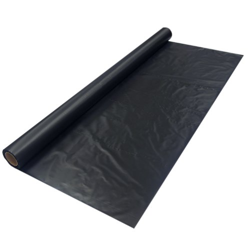 Party Essentials Plastic Banquet Table Roll Available in 27 Colors, 40'' x 100', Black by Party Essentials
