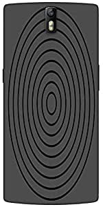 Snoogg Circular Target 2902 Designer Protective Back Case Cover For One Plus One