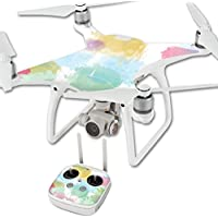 MightySkins Protective Vinyl Skin Decal for DJI Phantom 4 Quadcopter Drone wrap cover sticker skins Watercolor White