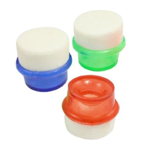 eDealMax PVA mousse plastique robinet d'eau Filtre 15mm d'entrée Dia 3 pièces Multicolor