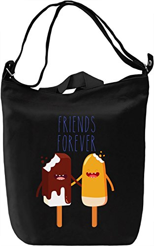 Friends Forever Borsa Giornaliera Canvas Canvas Day Bag  100% Premium Cotton Canvas  DTG Printing 