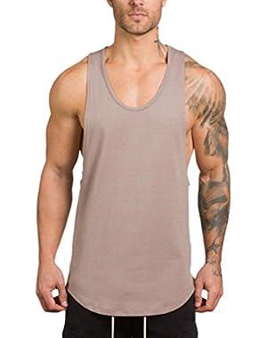 Men's Gyms Bodybuilding Fitness Muscle Sleeveless T-Shirt Top Vest Tank