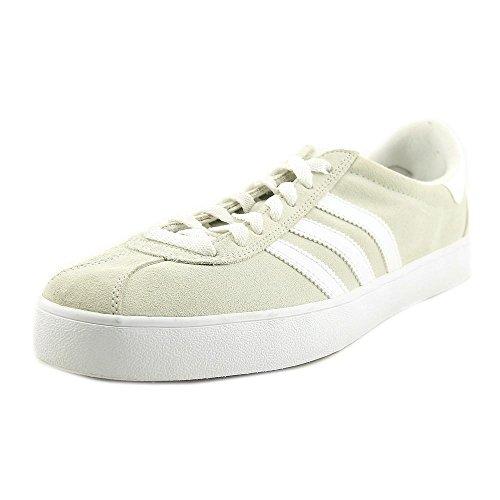 adidas Men's Skate ADV Crystal White/White/Gold Metallic Athletic Shoe