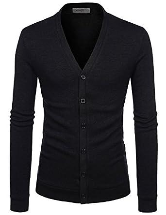 Amazon.com: NEARKIN City Casual Mens Knitwear Casual Shawl Collar ...