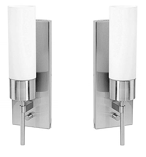 Access Lighting 50562-BS/OPL Aqueous Wall Sconce Fixture, Brushed - 2 Fixtures