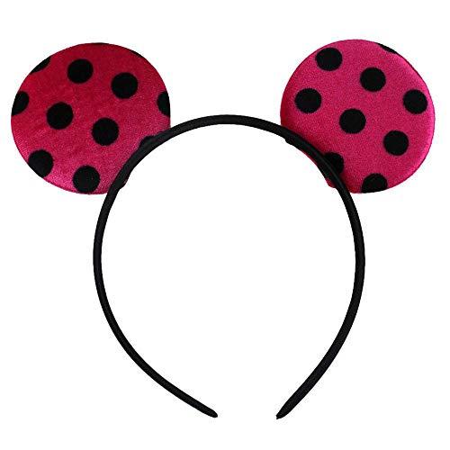 12Pcs/Lot 6 Colors Chic Dot Velvet Ear Hairband Infantile Girl Diy Hair Accessories For Kids Headband 5]()