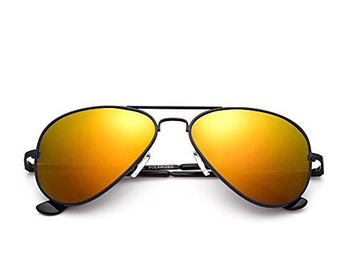 de Lunettes unique rotgoldverspiegelt schwarz Gestell Miuno Gläser taille Homme soleil TqWd5
